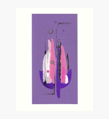 Purple candles-2 Art Print
