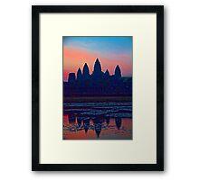 Cambodia. Angkor Wat. Sunrise. Framed Print
