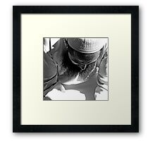 Knitted brow (woven cap). Framed Print