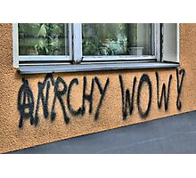 Anrchy Wow! Photographic Print