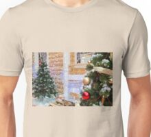 Background on the topic of Christmas and New Year Unisex T-Shirt
