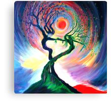 'Dancing tree spirits' by annie b. Canvas Print