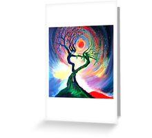 'Dancing tree spirits' by annie b. Greeting Card