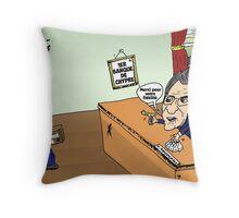 Banque Chypre ANASTASIADES caricature Throw Pillow