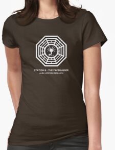 Station 8 - The Facehugger Womens Fitted T-Shirt