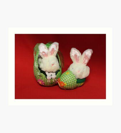 Easter Bunnies Art Print