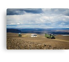 Buses of Landmannalaugar Canvas Print