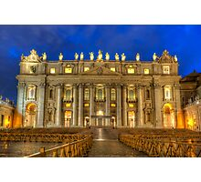 St Peter's Basilica 4.0 Blue Hour Photographic Print