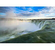 Rainbow Rises from Niagara Falls Waterfall Photographic Print