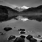The Langdale Pikes from Blea Tarn, Lake District by Justin Foulkes