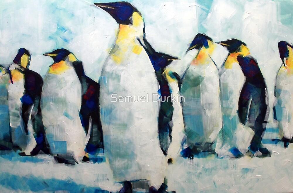 Emperor Penguins Artwork Painting by Samuel Durkin