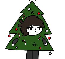 Beatles Christmas - George the Tree  by CharlieeJ