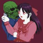 Girl & Skull by vgjunk