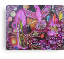 Night Canopy Courting Reproduction of Original Artwork Canvas Print