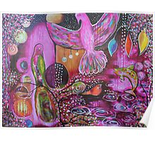 Night Canopy Courting Reproduction of Original Artwork Poster