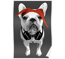 French Bulldog - Red Poster