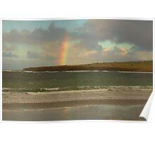 Rainbow, Skaill Bay Poster
