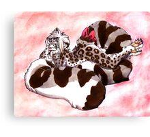 Snow Leopard Girl Canvas Print