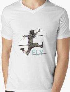Bird Boy Mens V-Neck T-Shirt
