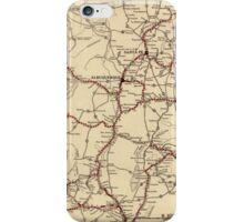 Retro New Mexico map iPhone Case/Skin