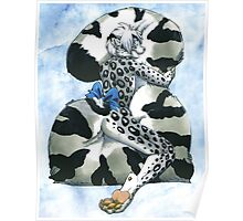 Snow Leopard Boy Poster