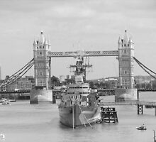 HMS Belfast and Tower Bridge by MikeOimages