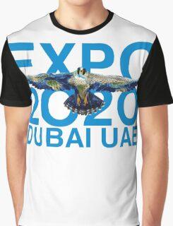 Dubai UAE Expop 2020 Earth Falcon Graphic T-Shirt