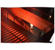 Red Stairs Poster