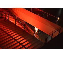 Red Stairs Photographic Print