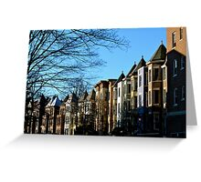Row Homes Greeting Card