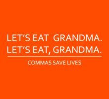 Commas save lives Kids Clothes
