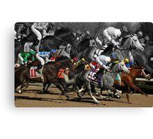 Horse Racing 2013 Canvas Print