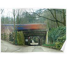 blurred train Poster