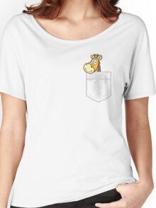 Pocket Giraffe Women's Relaxed Fit T-Shirt