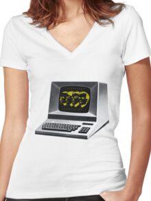 Kraftwerk Computer World  Women's Fitted V-Neck T-Shirt