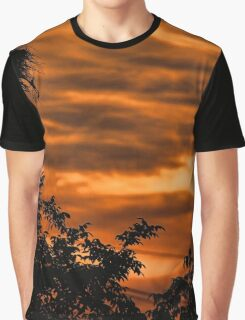 Stork at sunset Graphic T-Shirt