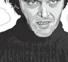 Jack Nicholson (Jack Torrance) The Shining poster Sticker