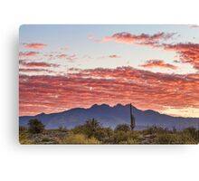 Arizona Four Peaks Mountain Colorful View Canvas Print