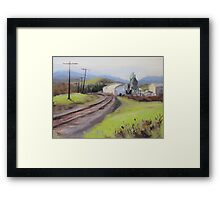 Original Plein Air Landscap Painting - Along the Tracks Framed Print