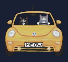 Cats in a Yellow Bug Kids Tee