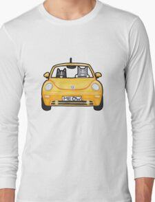 Cats in a Yellow Bug Long Sleeve T-Shirt
