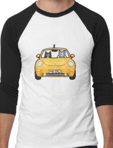 Cats in a Yellow Bug Men's Baseball ¾ T-Shirt