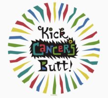 Kick Cancer's Butt  One Piece - Short Sleeve