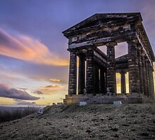 Penshaw Monument Sunset 2 by Angie Morton