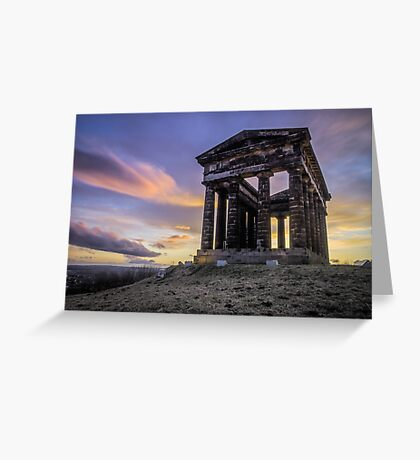 Penshaw Monument Sunset 2 Greeting Card