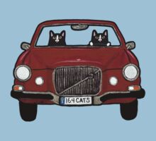 Cats in a Maroon Volvo Kids Tee