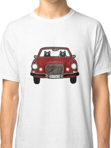 Cats in a Maroon Volvo Classic T-Shirt