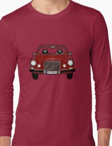 Cats in a Maroon Volvo Long Sleeve T-Shirt
