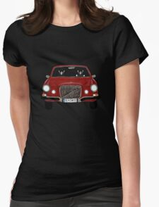 Cats in a Maroon Volvo Womens Fitted T-Shirt