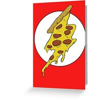 The Flash - Pizza Greeting Card